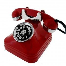 Retro Telephone Vintage Style Miniature Phone Collectible Mini Clock Gift Clock Gift Clock Mini Desk