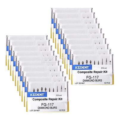 Ad Ebay Url 100 Kits Azdent Dental Diamond Burs Set Fg 112 Resin