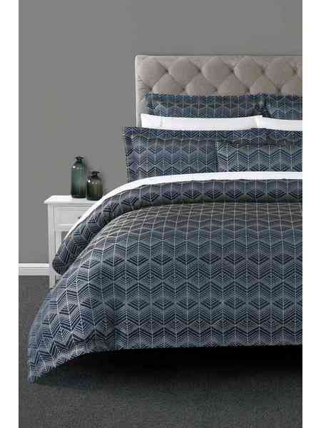 Elysian Villiers Jacquard Quilt Cover Set King Bed Harris Scarfe