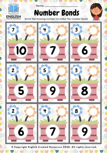 Maths Worksheet Number Bonds Math Worksheet Math Number Bonds