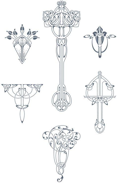 Art Nouveau Pattern, Floral Drawing, Art Tattoo, Mandala Design, Celtic Art, Vintage Tattoo Design, Art Deco, Design Art, Laser Art