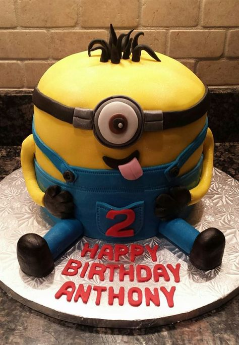 Minion Birthday Cake by Pattie Cakes, New York, USA. You'll find this Cake Appreciation Society Member in our Directory at www.cakeappreciationsociety.com