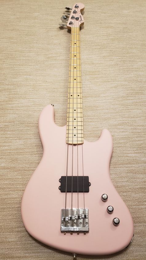 [NGD] Flea Signature Active Jazz Bass in shell pink