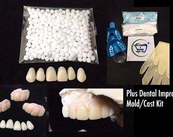 Missing Tooth Kit Front Flipper Denture Resin Denture Teeth Etsy In 2020 Dental Impressions Partial Dentures Denture