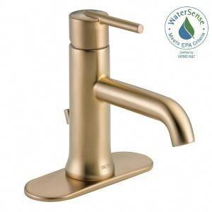 Trinsic Single Hole Single Handle Bathroom Faucet With Metal Drain Assembly I Single Handle Bathroom Faucet Bathroom Sink Faucets Bronze Brass Bathroom Faucets