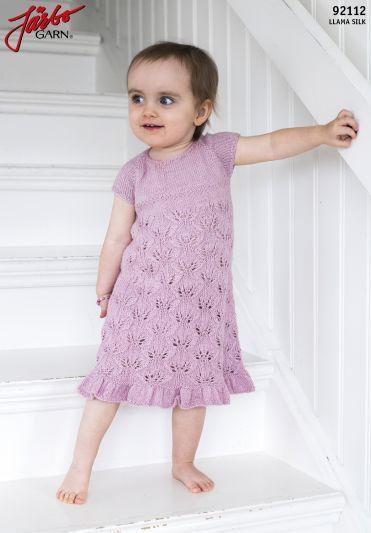 mönster stickad klänning baby