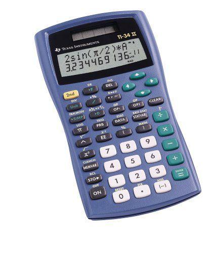 Amazon Com Texas Instruments Ti 34 Ii Calculator Scientific Calculators Electronics Calculator Scientific Calculators Graphing Calculator