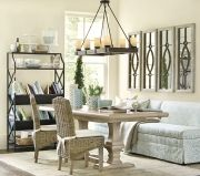 A dining banquette offers a casual vibe for a dining area