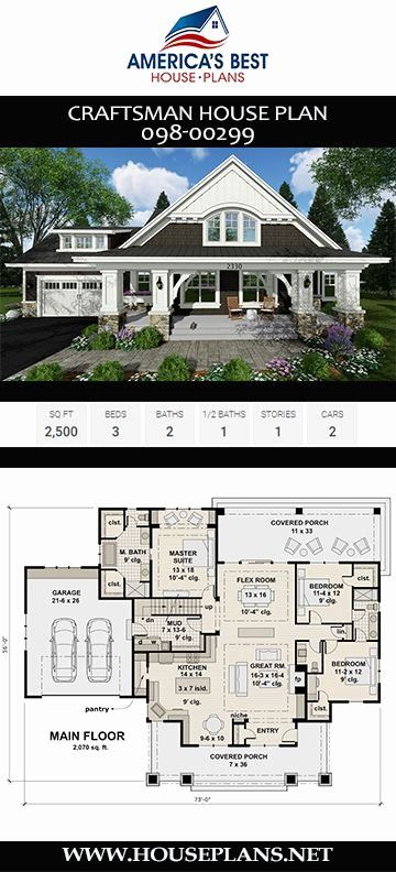 2500 Sq Foot House Plans Fresh House Plan 098 Craftsman Plan 2 500 Square Feet 3 In 2020 Craftsman House Plans New House Plans Beach House Plans