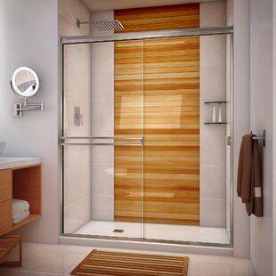 Aston Coraline 72 X 76 Single Sliding Frameless Shower Door Wayfair In 2020 Shower Doors Chrome Shower Door Semi Frameless Shower Doors