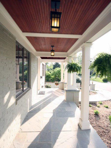 Top 70 Best Porch Ceiling Ideas Covered Space Designs Porch Design House Exterior House With Porch