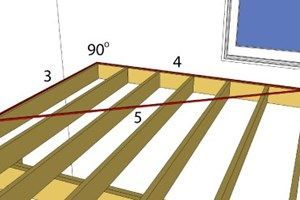 Squaring The Deck Frame Is Important To Ensure A Square Or Rectangular Shaped Deck Discover The Best Way To In 2020 Building A Deck Deck Framing Deck Designs Backyard