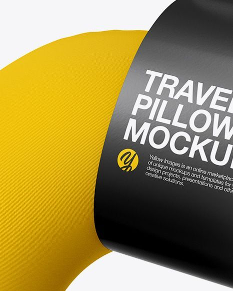 Travel Pillow Mockup Half Side View
