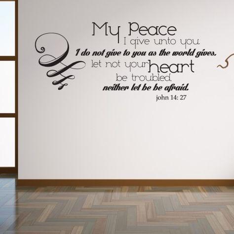 John 14:27 Lord's Prayer Christian Scripture Wall Decor | My Peace I give unto you
