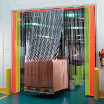 Yellow Plastic Transparent Pvc Strip Curtain For Warehousing Outdoor Workshops Industrial Flexible Doors And Other Plastic Curtains Strip Curtains Curtains