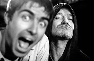 Liam Gallagher and Bono, Oasis and U2, San Francisco 1997