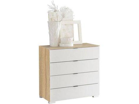Moderano Kommode Weiss Sonoma Eiche B H T 80 80 40 Furniture