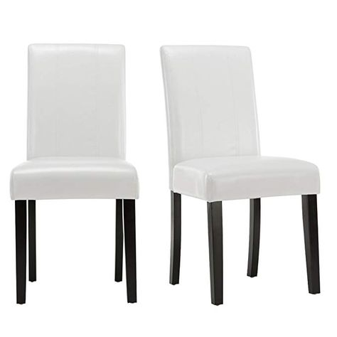 Amazing Andeworld Set Of 2 Pu Leather Dining Chairs Padded Kitchen Pabps2019 Chair Design Images Pabps2019Com