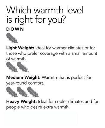 Calvin Klein Medium Warmth Down King Comforter Premium White Down