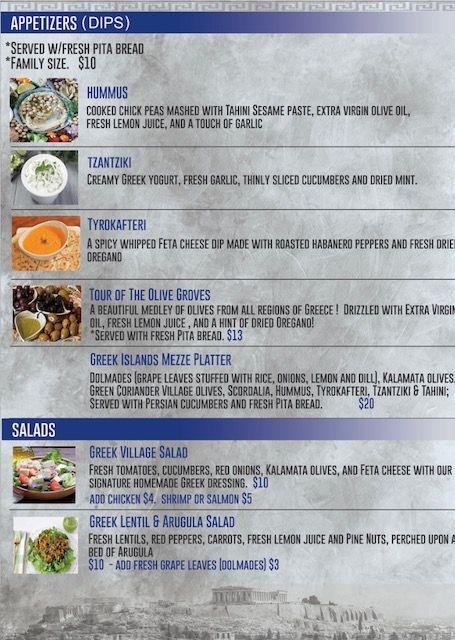 Our Menu List   Desie's Greek Eats & Sweets   Menu list, Food