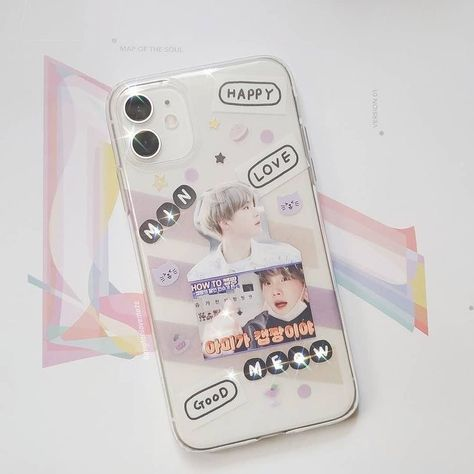 Kpop Phone Cases, Diy Phone Case, Cute Phone Cases, Iphone Cases, Cell Phone Covers, Bts Yoongi, Airpods Apple, Pop Stickers, Aesthetic Phone Case