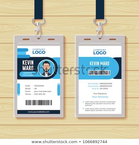 Office Id Card Template Perfect For Any Types Of Agency Corporate Offices And Companies You Can Also Used This Kartu Desain Grafis Inspirasi Desain Grafis