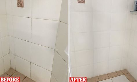 Mum's grout cleaning trick leaves her bathroom walls sparkling clean