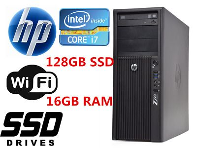 Fast Hp Z220 Mt Desktop Computer Intel I7 16gb Ram 128gb Ssd 1tb Hdd Win10 Wifi In 2020 Desktop Computers Ssd Intel