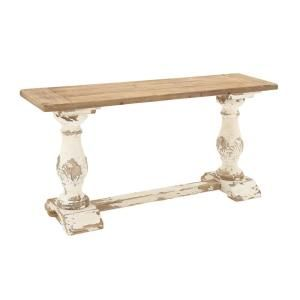 Litton Lane Distressed White Console Table In 2020 Console Table