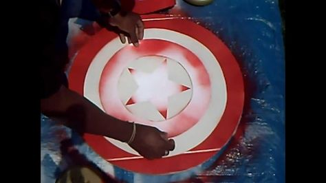DIY Tutorial: DIY Captain America Costume / DIY The Avengers: Captain America Cardboard Shield - Bead&Cord