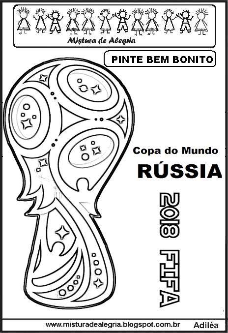 Desenho Logomarca Copa Do Mundo 2018 R C3 Bassia Imprimir Colorir