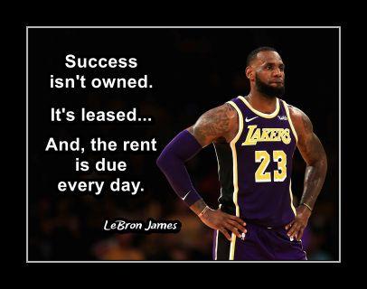 Lebron James Basketball Inspirational Quote Poster Gift
