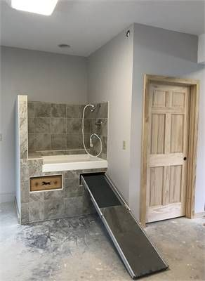 Two Car Garage With Two Bedroom Apartment Dog Washing Station