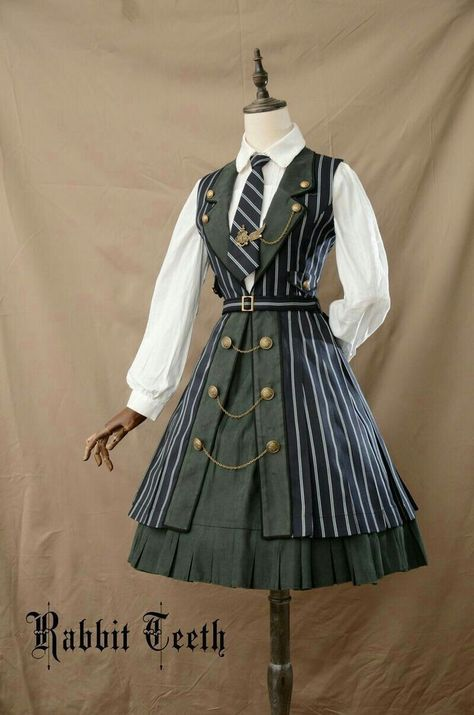 Fantastic Wind -The Tower of Ivory- College School Style Lolita JSK,Lolita Dresses,