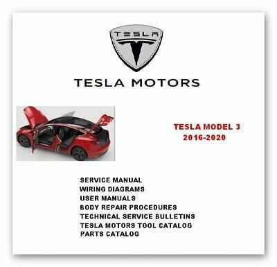 Advertisement Ebay Tesla Model 3 Full Service Repair Manuals 2016