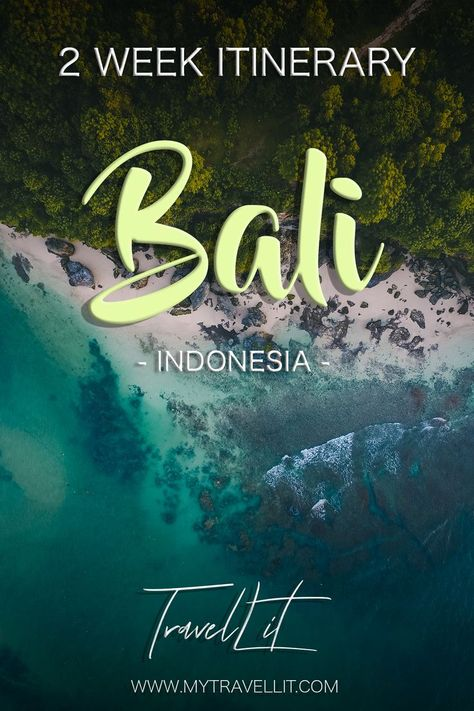 Best Itinerary for 2 weeks in Bali, best places to stay in Bali, must do things in Bali and where to go in Bali. Description of all the neighbourhoods in Bali and what to expect. #bali #indonesia #island #beachlife #vacation #travelguide #canggu #ubud