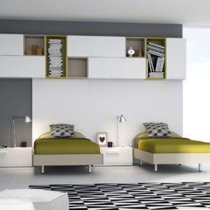 Dormitorio Con Dos Camas Individuales Habitación Con Dos Camas Habitaciones Juveniles Dormitorios