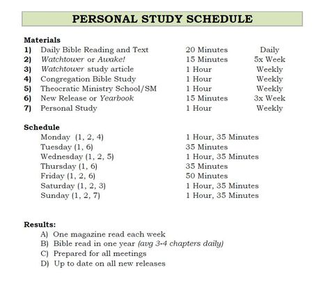 Weekly Study Schedule The Truth Will Set You Free Pinterest
