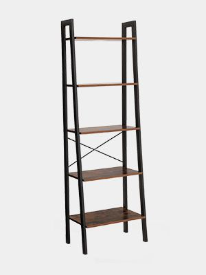 Vasagle Industrial Ladder Shelf 5 Tier Bookshelf Bookcase And