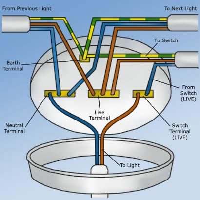 Diagram Of A Ceiling Rose Ceiling Rose Wiring Diy Electrical Home Electrical Wiring