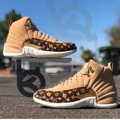 Custom Air Jordan 12 Its Gucci babyyy Jordan Shoes Online, Jordan Shoes Girls, Air Jordan Shoes, Girls Shoes, Custom Jordan Shoes, Latest Jordan Shoes, Ladies Shoes, Cute Sneakers, Shoes Sneakers