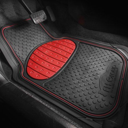 Fh Group F11500red Red Heavy Duty Touchdown Rubber Floor Mat Full Set Trim To Fit Floor Mats Ideas Of Floor Ma In 2020 Rubber Floor Mats Car Floor Mats Floor Mats