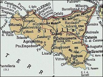 Kort Over Sicilien Rejser Kort