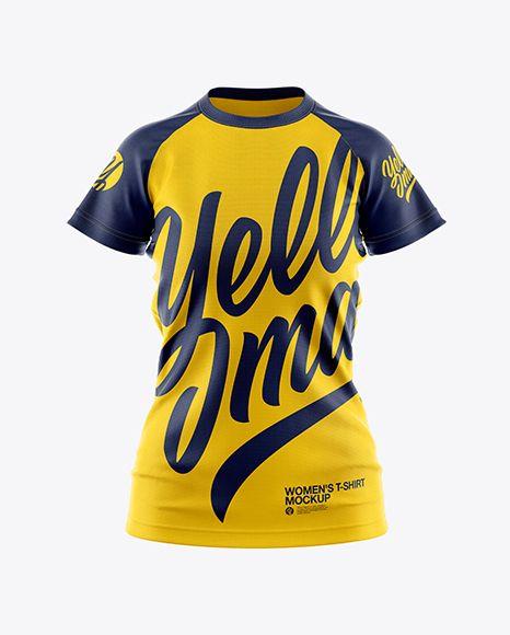 Download Women S T Shirt Mockup In Apparel Mockups On Yellow Images Object Mockups Shirt Mockup Clothing Mockup Tshirt Mockup