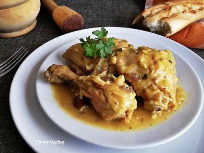 Como Hacer Pollo O Gallina En Pepitoria Un Guiso Tradicional Que Preparamos De Manera Fácil Como Lo Hacía L Pollo En Pepitoria Receta Pollo En Pepitoria Pollo