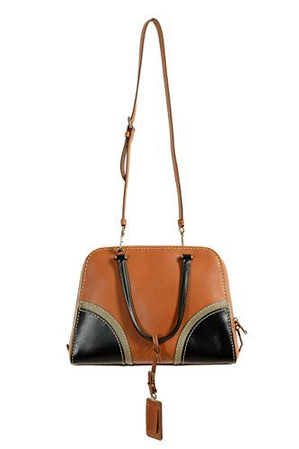 c17393f5197a Prada Saffiano Cuir Pattina Caramel Beige   Talco White Leather Shoulder Bag  BT1015