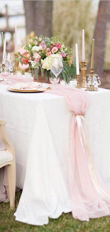 Table for two romantic engagement tulle table runner tulle table for two romantic engagement tulle table runner tulle table and navy ribbon junglespirit Image collections
