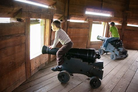 Fort Vancouver offers an impressive insight into frontier history, with much to interest older children.