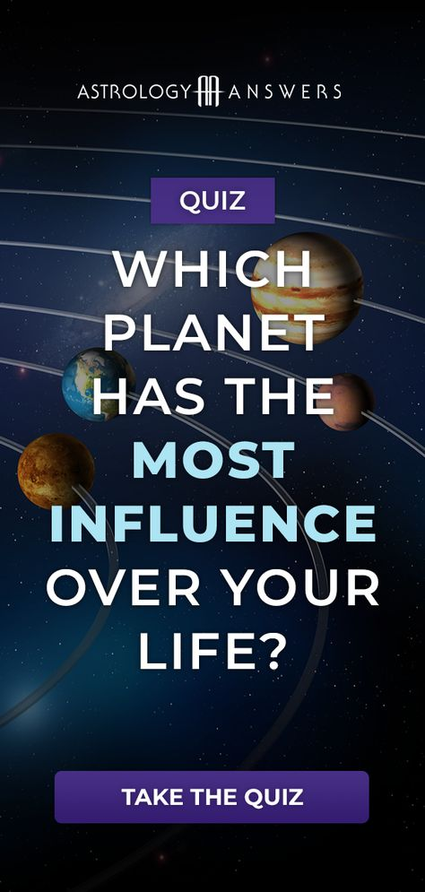 Which planet influences you the most? Take our quiz to find out! #astrology #astrologyquiz #planets #astrologyplanets #quizzes