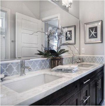 Image Result For Elegant White Gray Master Bath With Pearl Tile